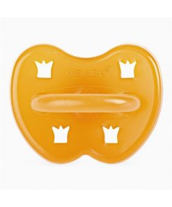HEVEA guľatý cumlík Crown dizajn, prírodný kaučuk