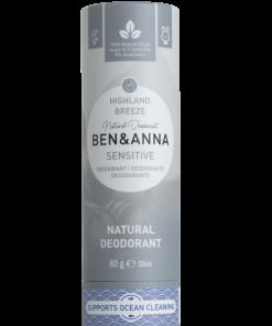 Sensitive Prírodný dezodorant v papierovej tube BEN&ANNA, 60g – Highland Breeze