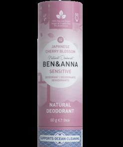 Sensitive Prírodný dezodorant v papierovej tube BEN&ANNA, 60g – Japanese Cherry Blossom