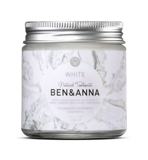 Prírodná zubná pasta Ben & Anna v skle, 100ml – White