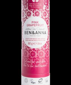 Prírodný dezodorant v papierovej tube BEN&ANNA, 60g Pink Grapefruit