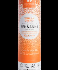 Prírodný dezodorant v papierovej tube BEN&ANNA, 60g – Vanilla Orchid