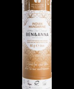 Prírodný dezodorant v papierovej tube BEN&ANNA, 60g – Indian Mandarine