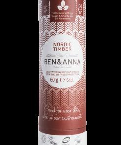 Prírodný dezodorant v papierovej tube BEN&ANNA, 60g – Nordic Timber