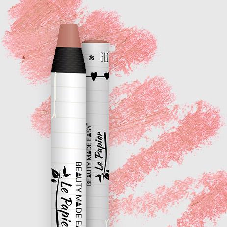 Prírodný rúž v papierovom obale Le Papier, lesklý, 6g – Coral