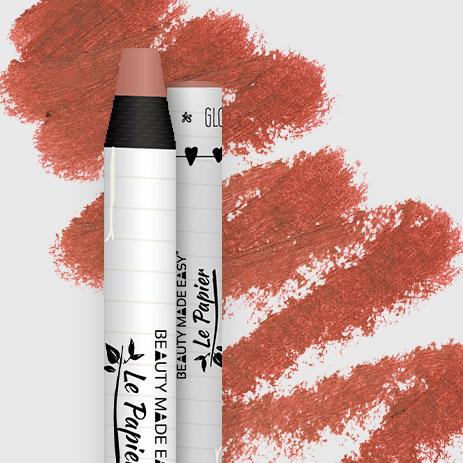 Prírodný rúž v papierovom obale Le Papier, lesklý, 6g – Dusty Rose