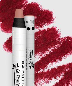 Prírodný rúž v papierovom obale Le Papier, matný, 6g – Ruby