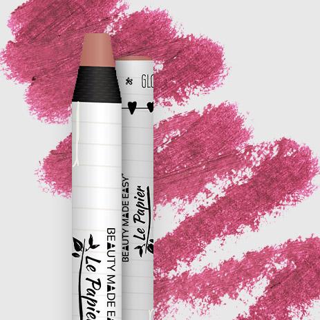 Prírodný rúž v papierovom obale Le Papier, lesklý, 6g – Blossom