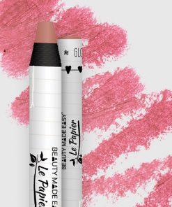 Prírodný rúž v papierovom obale Le Papier, lesklý, 6g – Blush