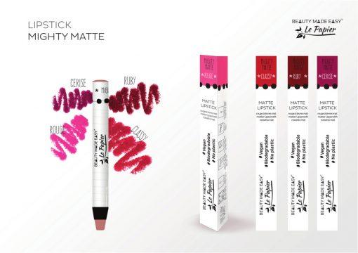 Prírodný rúž v papierovom obale Le Papier, matný, 6g – Rouge