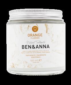 Prírodná zubná pasta BEN&ANNA v skle, 100ml – Orange s Fluoridom
