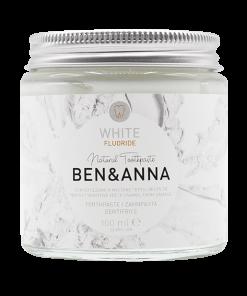 Prírodná zubná pasta BEN&ANNA v skle, 100ml – White s Fluoridom
