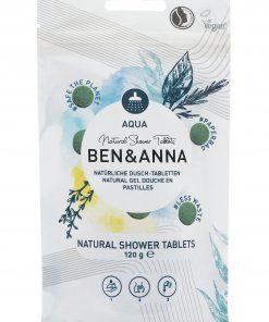 Sprchový gél BEN&ANNA tablety, 120g – Aqua