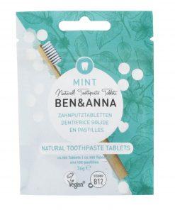Prírodná zubná pasta BEN&ANNA tablety, 36g – Mint